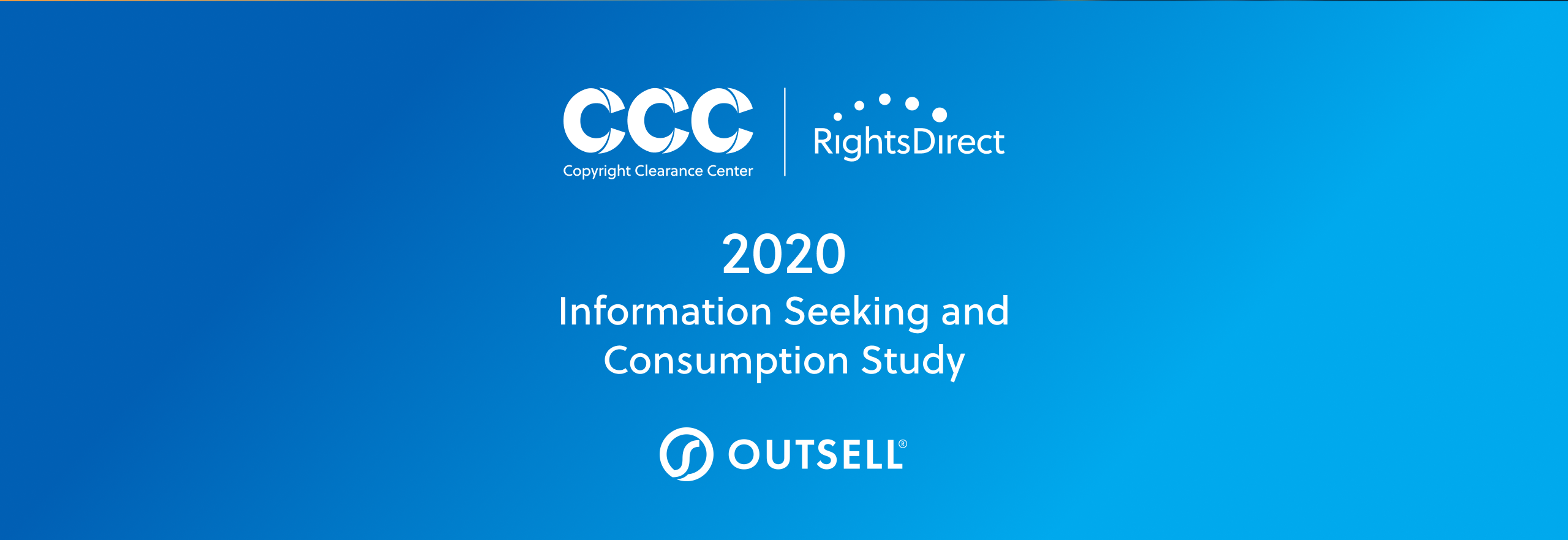 Copyright Clearance Center, RightsDirect, and Outsell: 2020 Information Seeking and Consumption Study