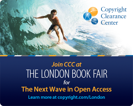 Join CCC at The London Book Fair for The Next Wave in Open Access. Learn more at copyright.com/London