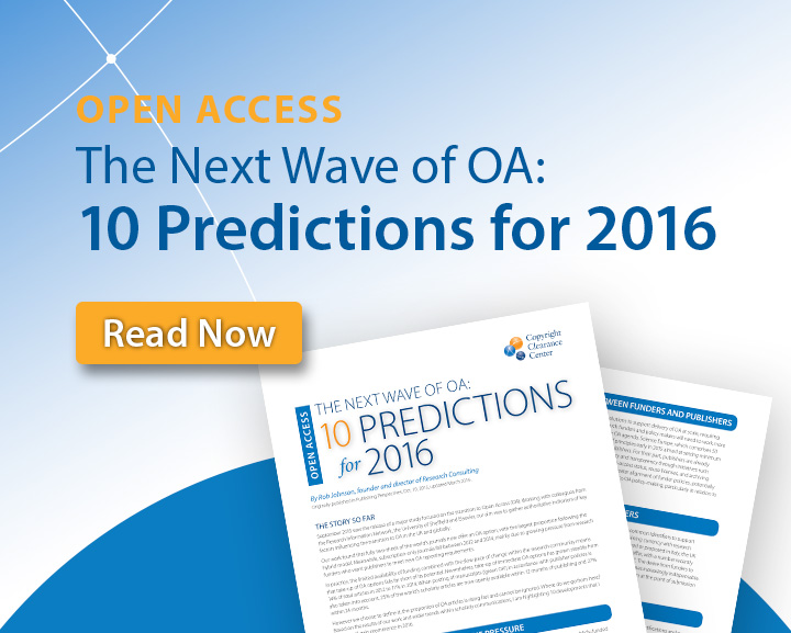 The Next Wave of Open Access: 10 Predictions for 2016
