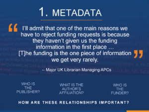 The Final Disruption of OA - Metadata