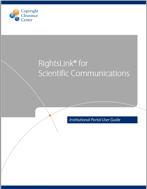 RightsLink for Scientific Communications Agreement Management Module Institutional Portal User Guide
