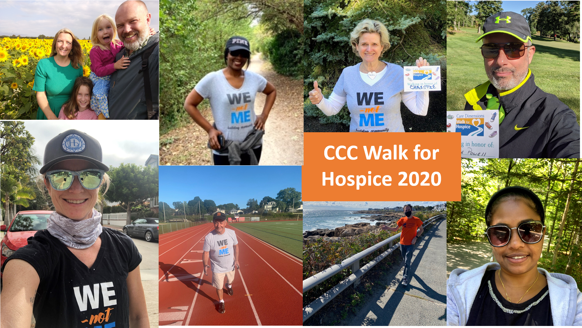 CCC employees participate in the 2020 Walk for Hospice